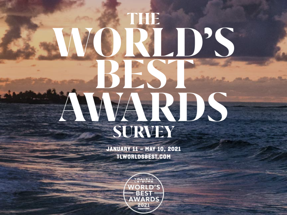 Travel + Leisure 2021 World's Best Awards