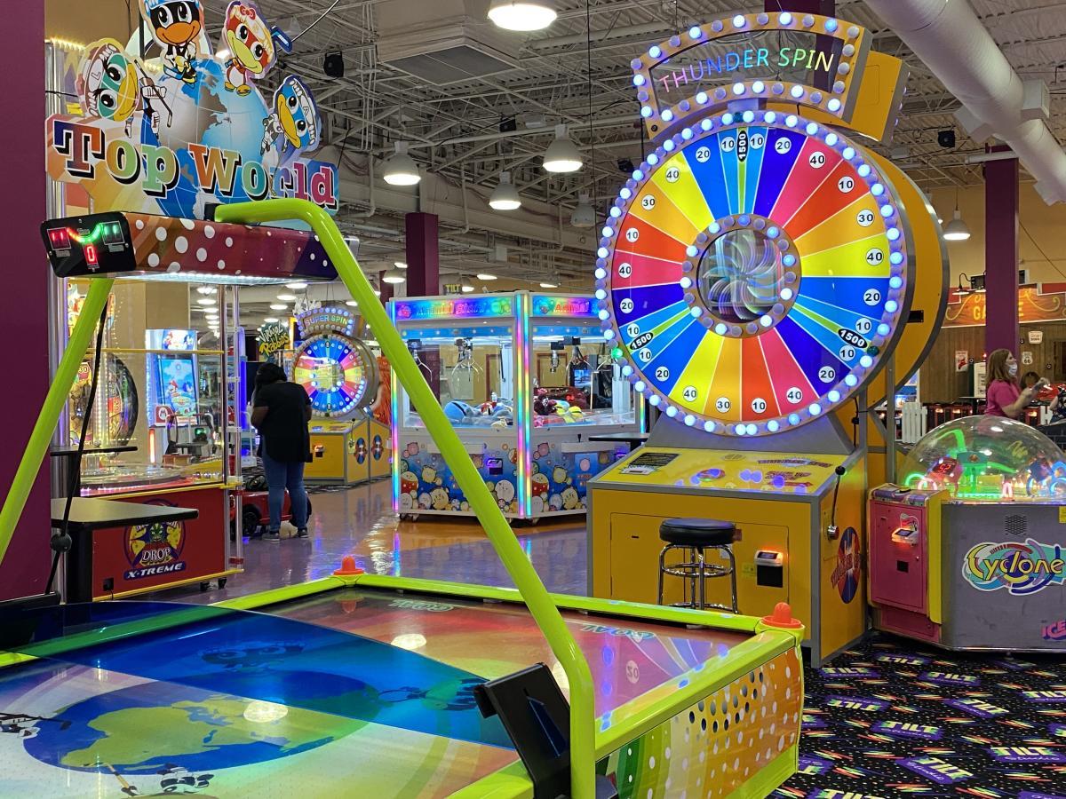 Arcade games at The Tilt Studio in Beaumont, TX