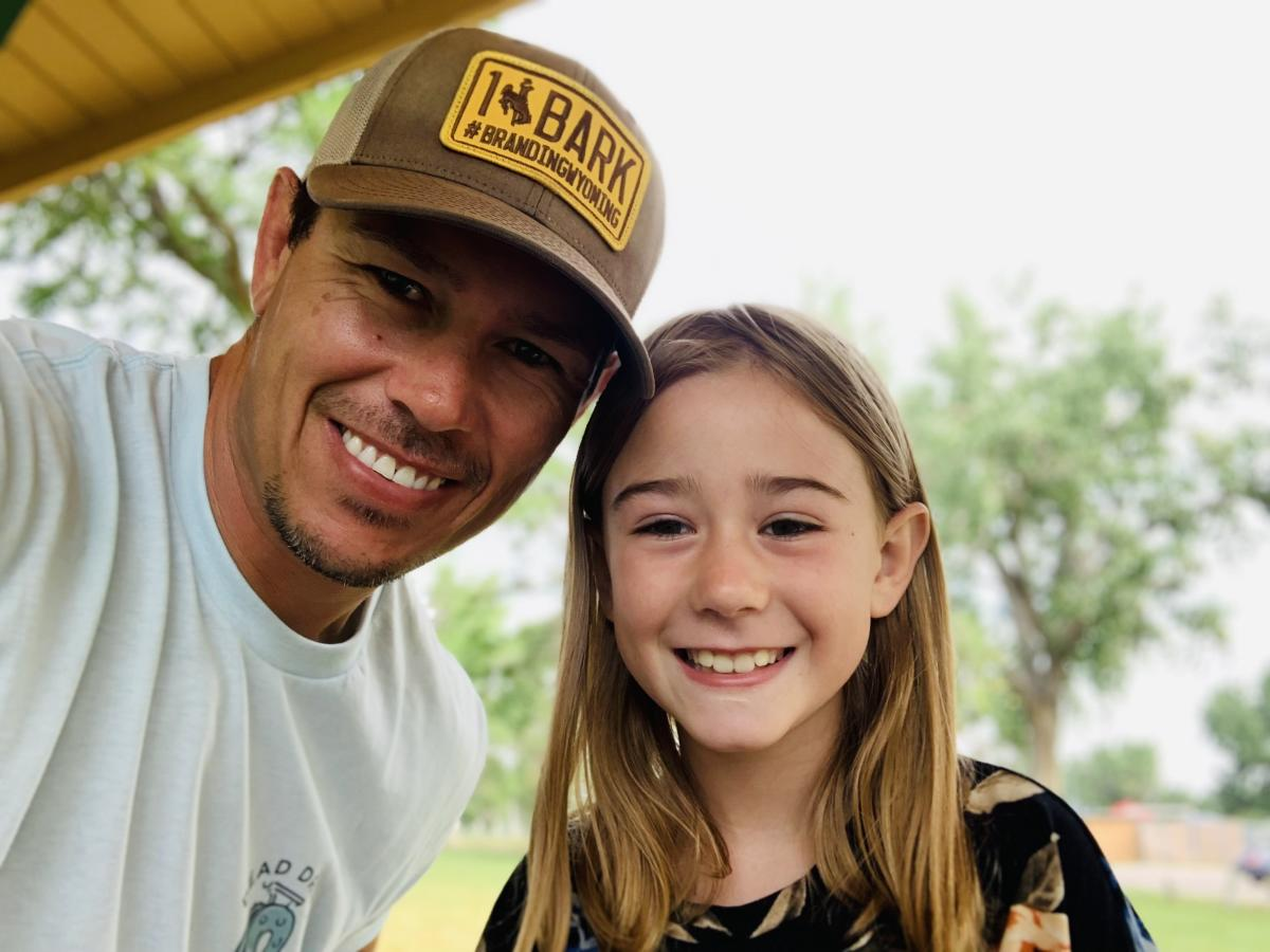 Father and Daughter in Casper, Wyoming