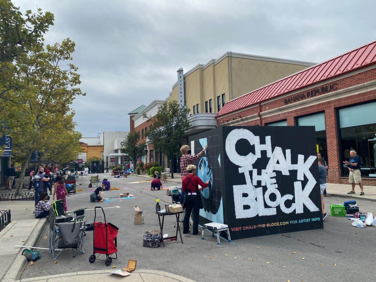 Chalk the Block event at Easton
