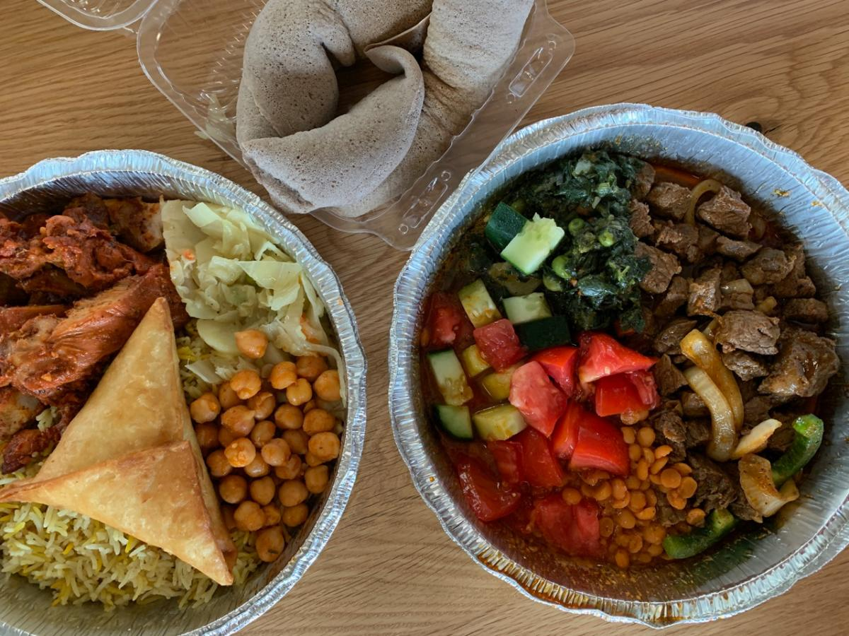 Carryout from Hoyo's Kitchen at the North Market