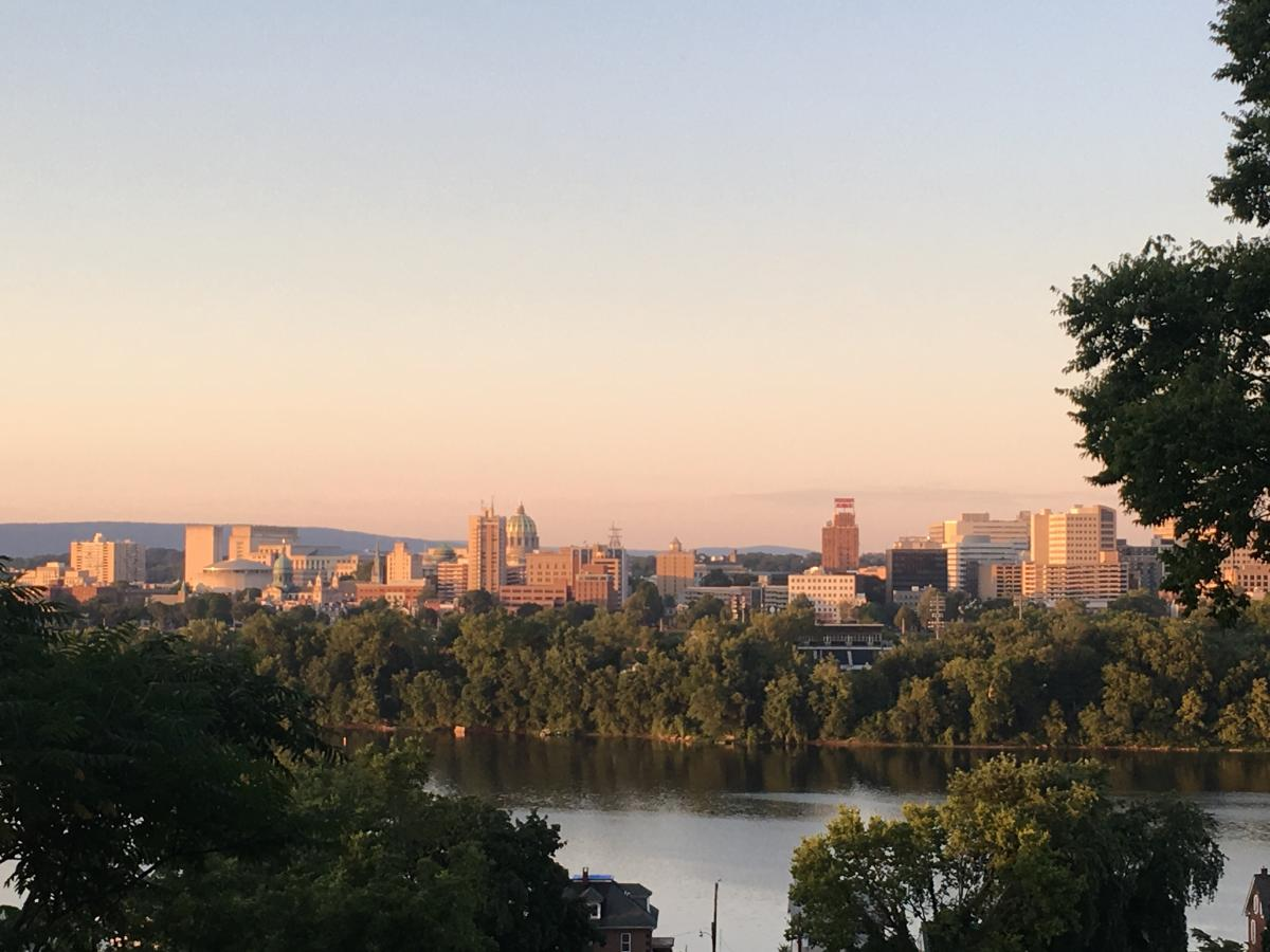 View Of Susquehanna River and the Harrisburg skyline From Negley Park