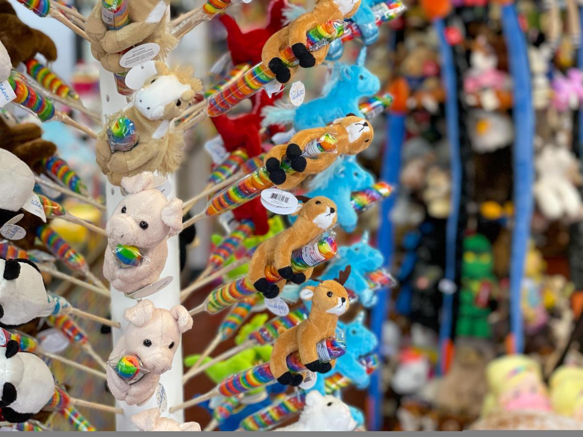 Stuffed Animals at Twilight Toys, Durango, CO
