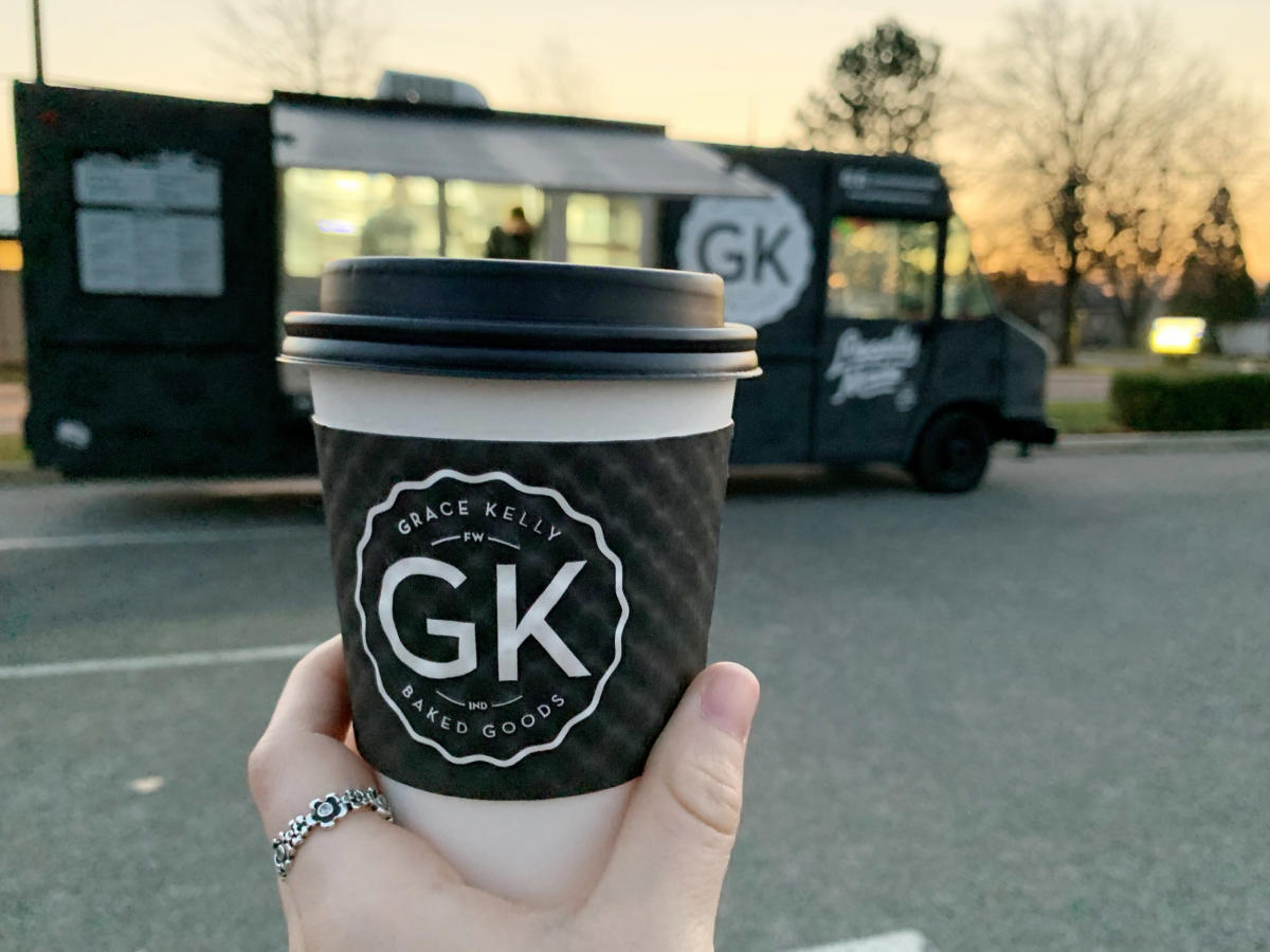 A cup of hot chocolate from the GK Pastry Truck in Fort Wayne, Indiana