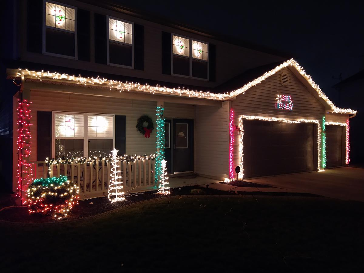 7807 Longmont Place Christmas Lights Display in Fort Wayne, Indiana