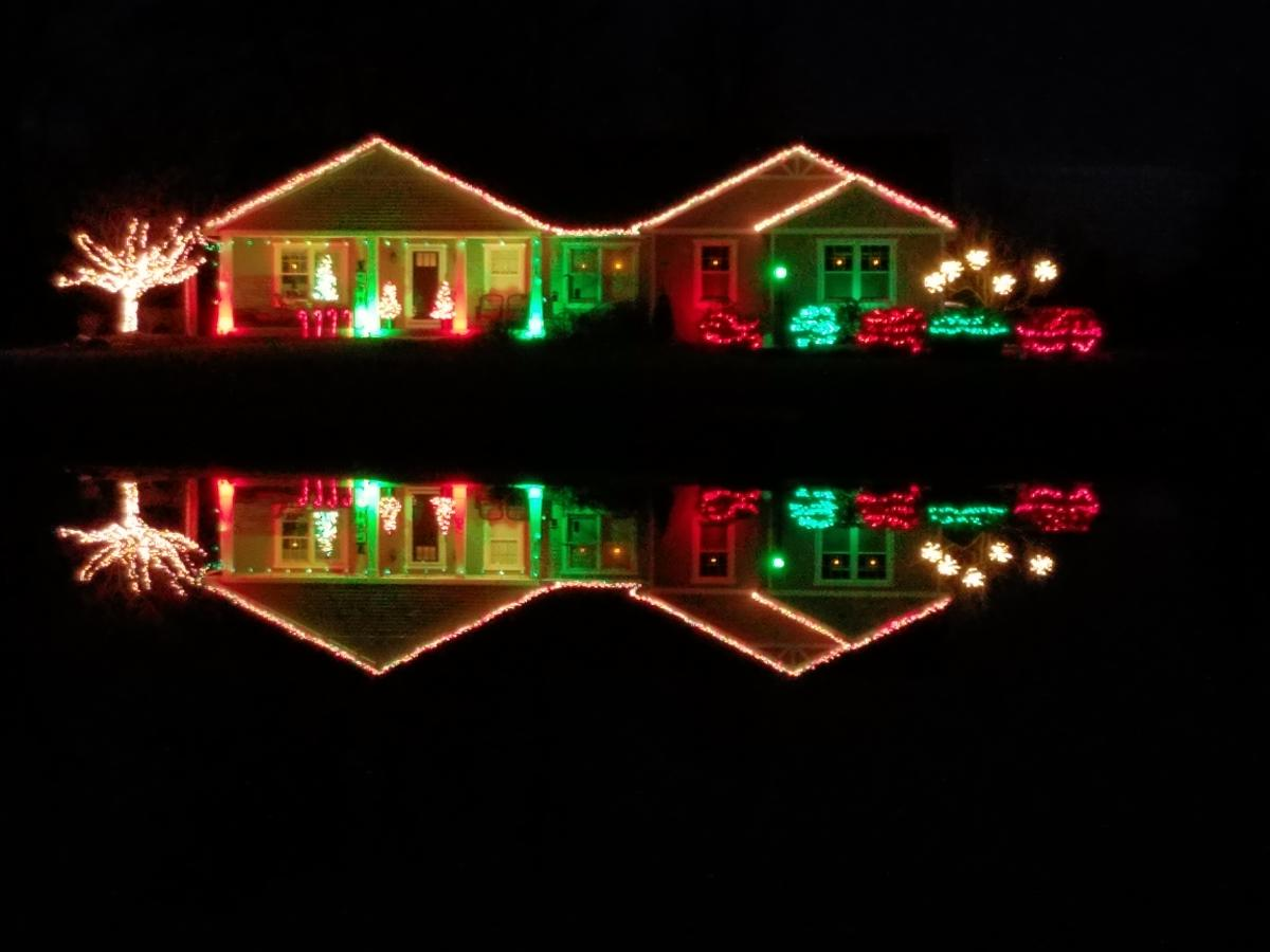 Christmas Light Display at 6707 W. Dupont Rd.in Fort Wayne, Indiana
