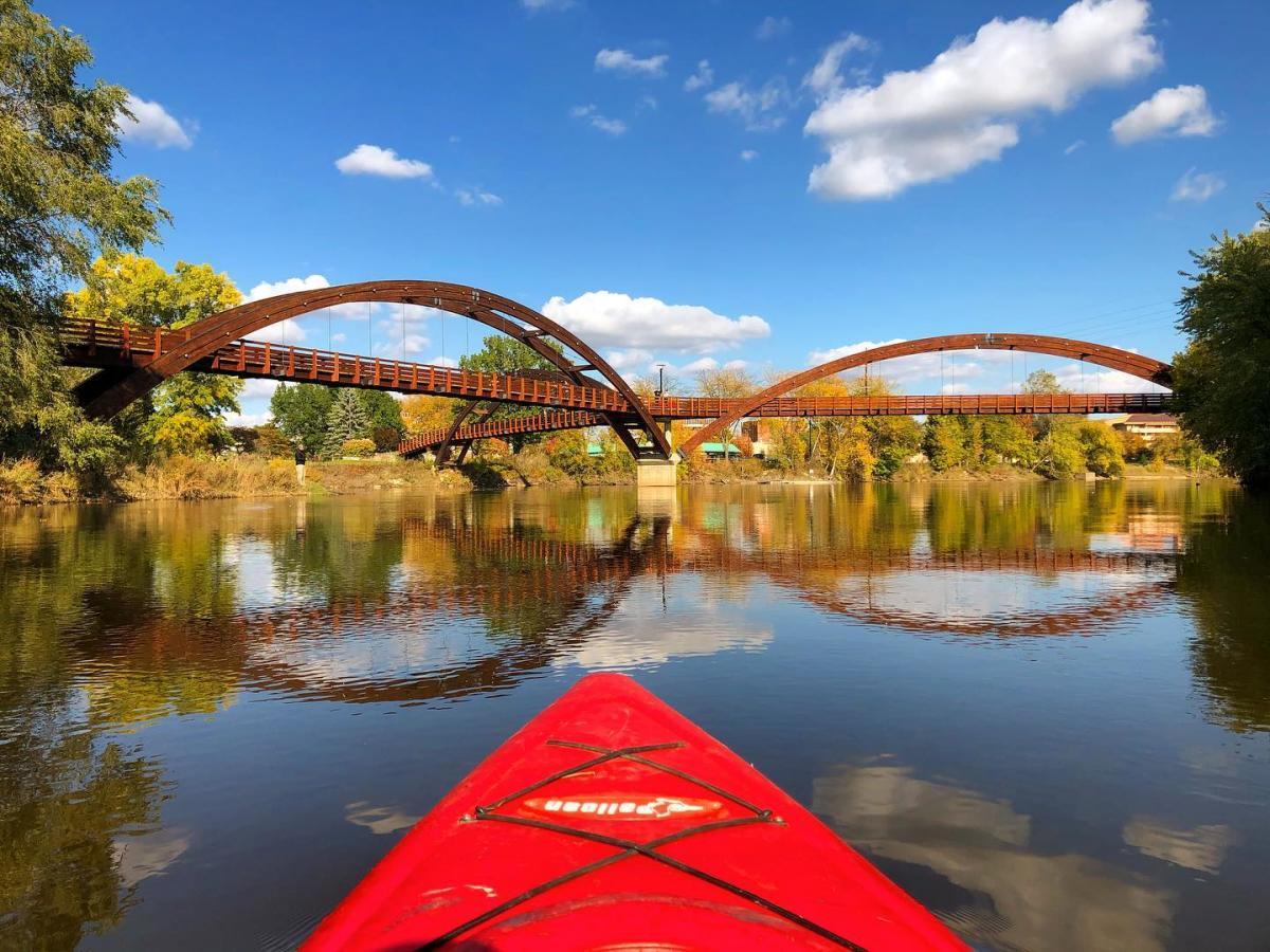 Kayaking beneath the Tridge in Midland