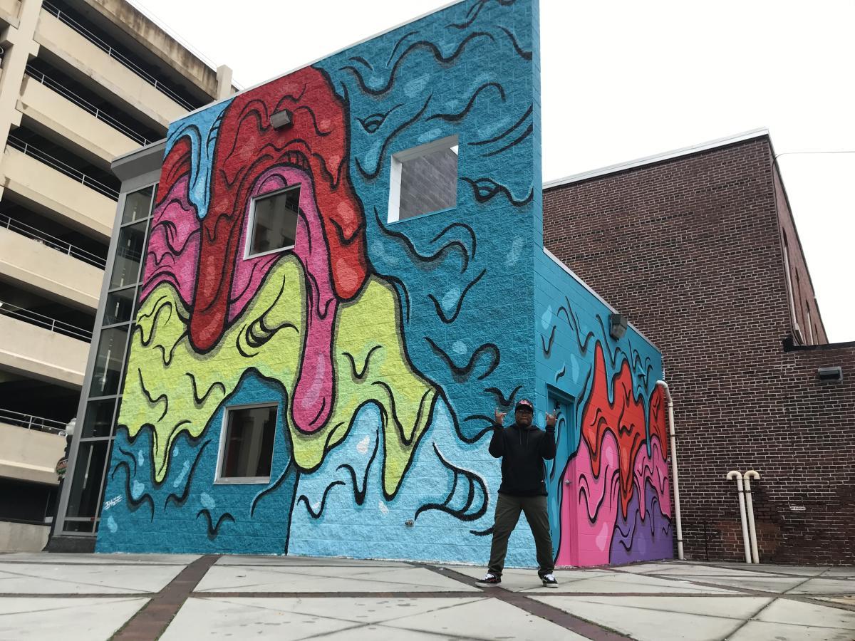 Harrisburg Drip Paint Mural 2020