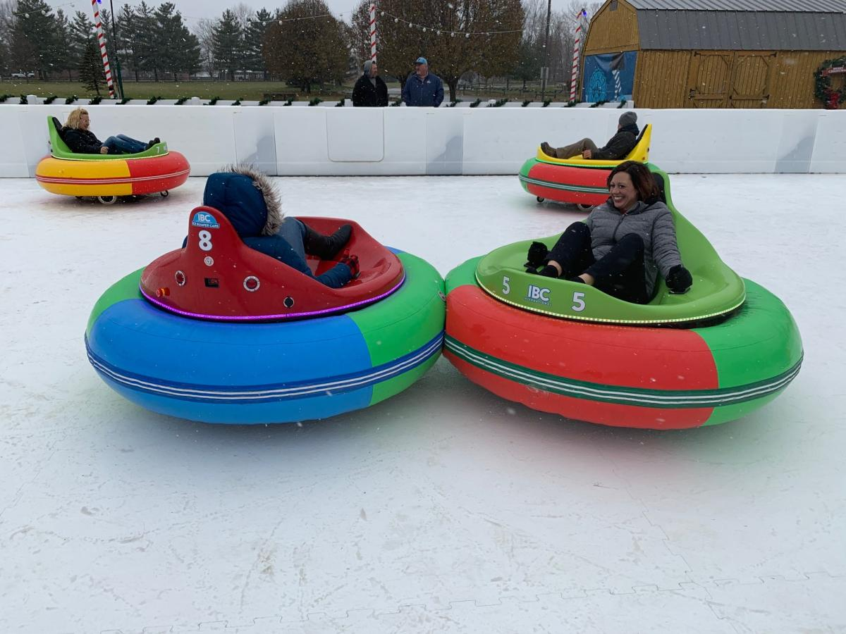 Bumper cars at Avon Ice Rink