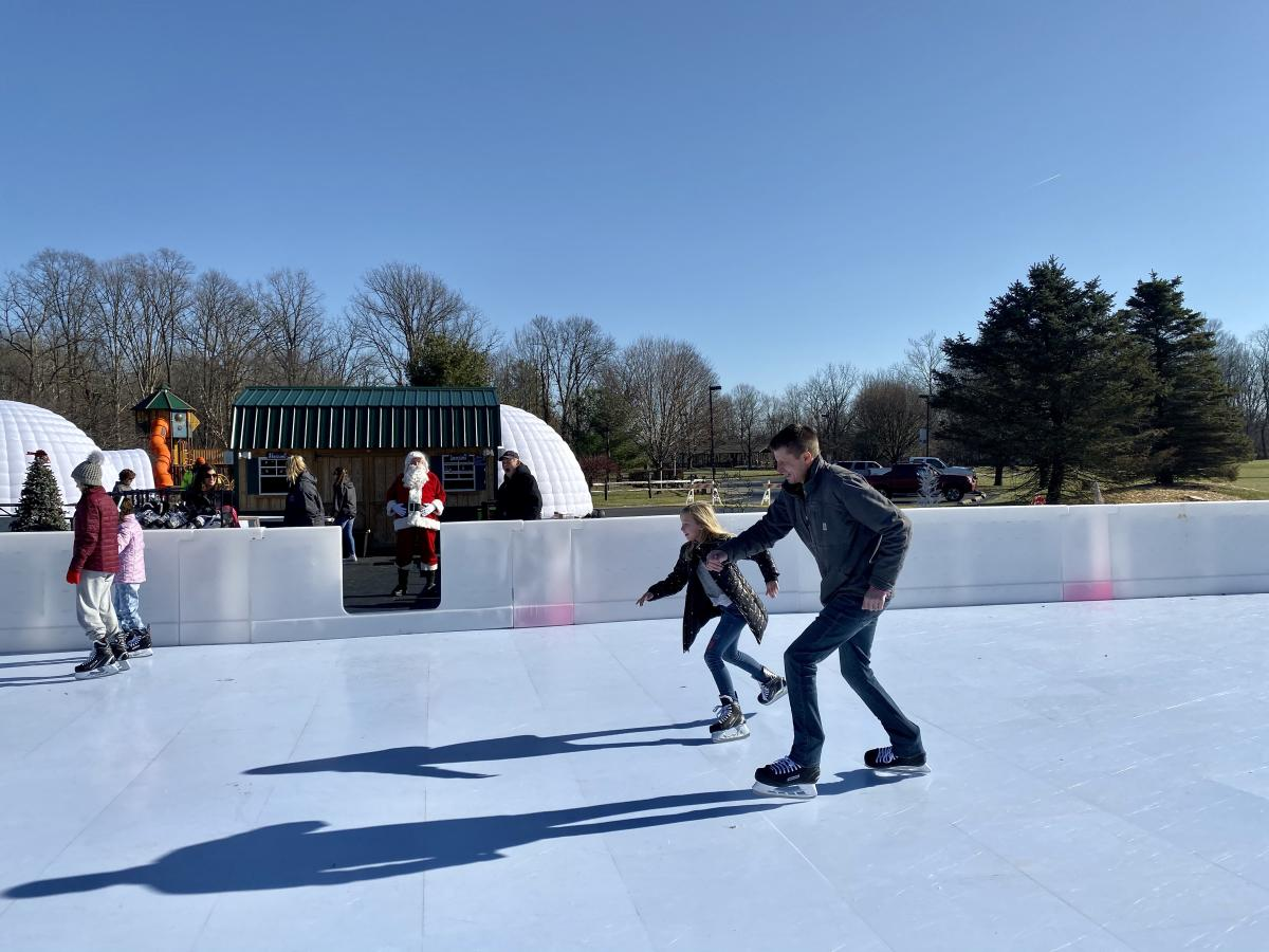 penguin park, open skate, Santa, Washington Township Park