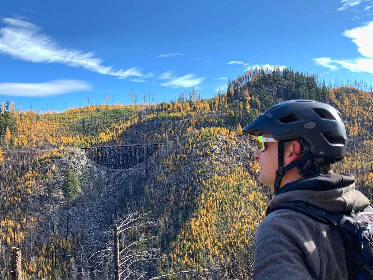 Biking Myra Canyon during Larch Season