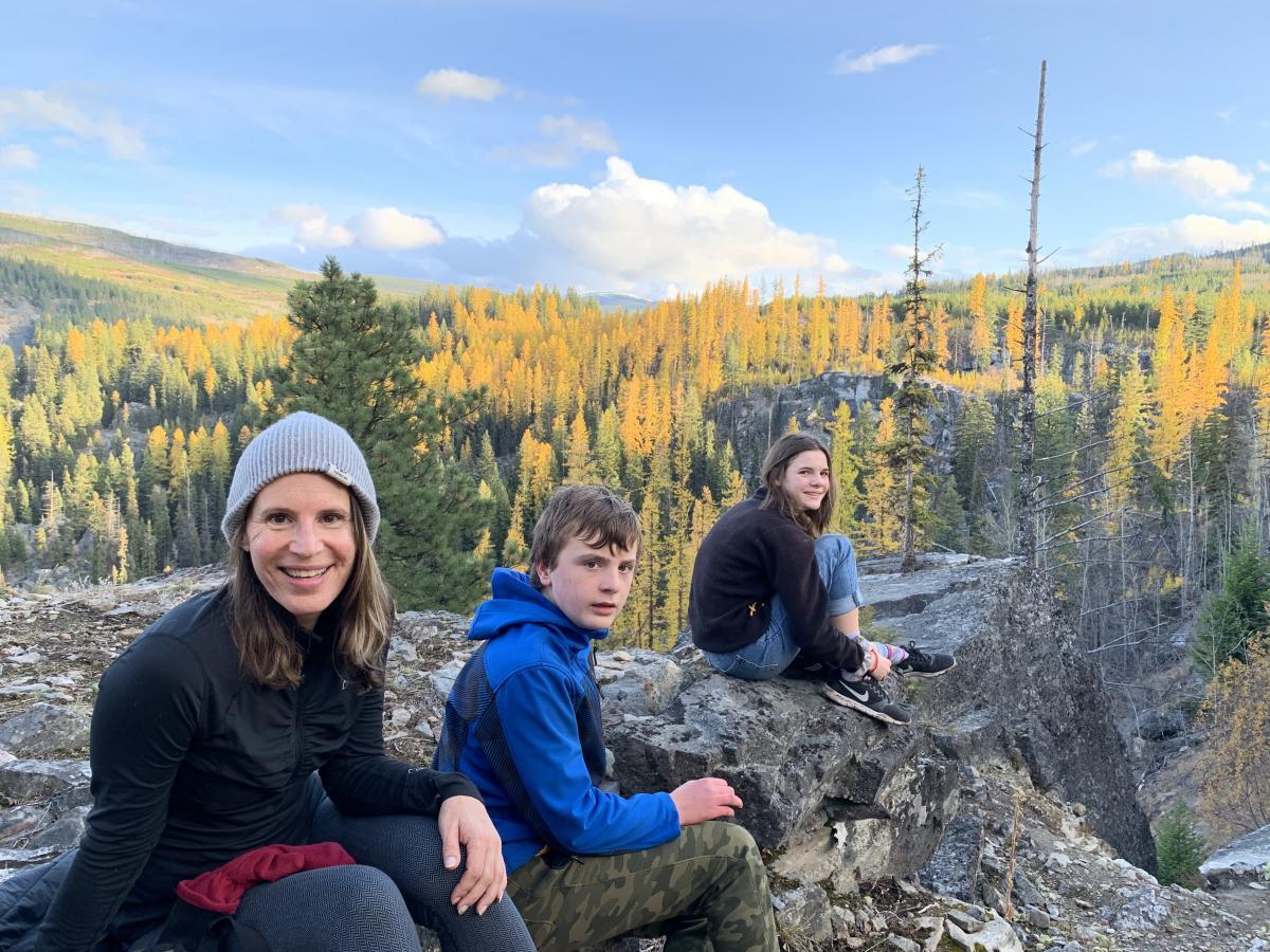 Lisa Kadane & Family at the Boulderfields