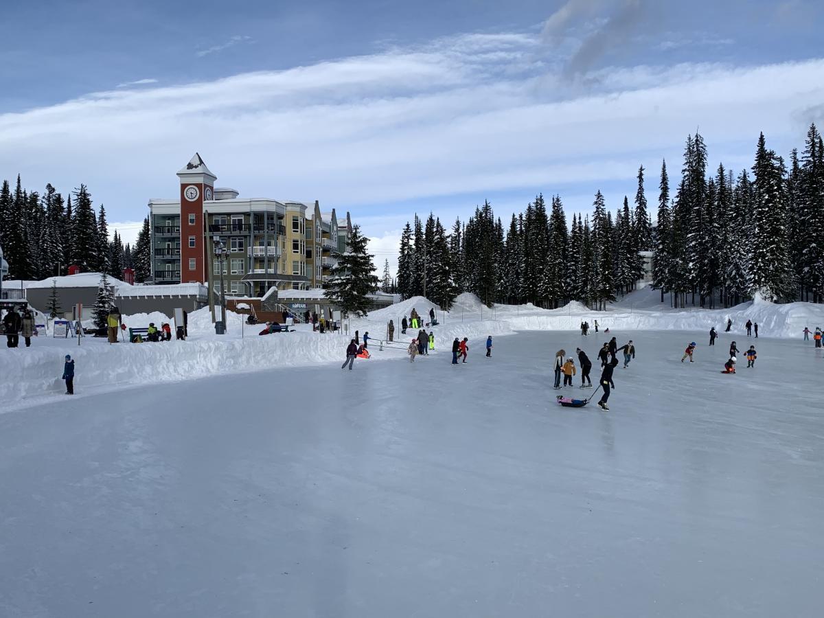 Ice skating at Brewer's Pond at SilverStar