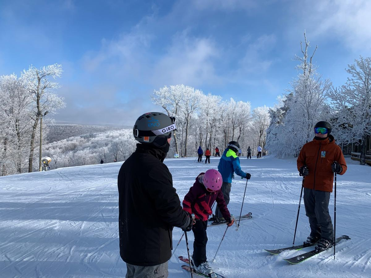 Beautiful views on a family ski trip at Seven Springs