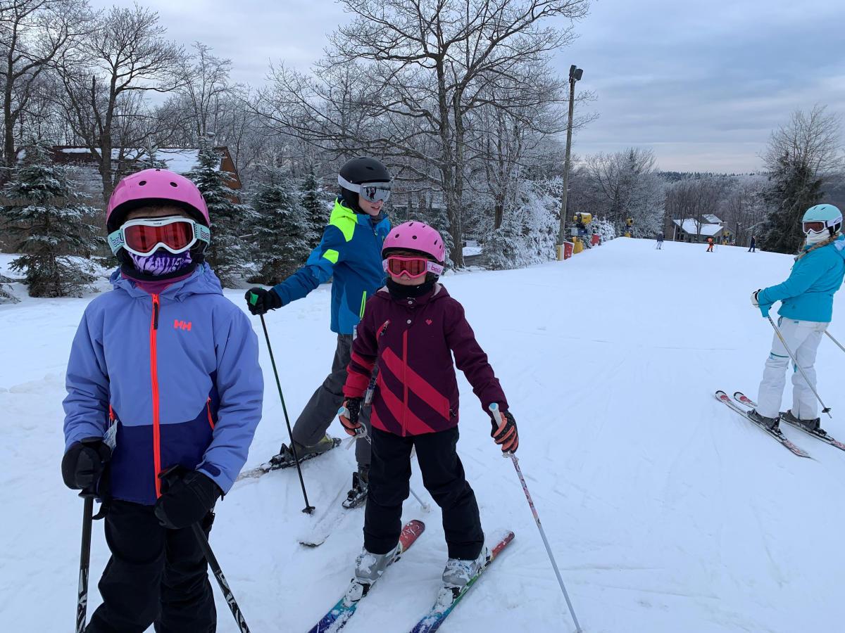 Kids skiing at Seven Springs