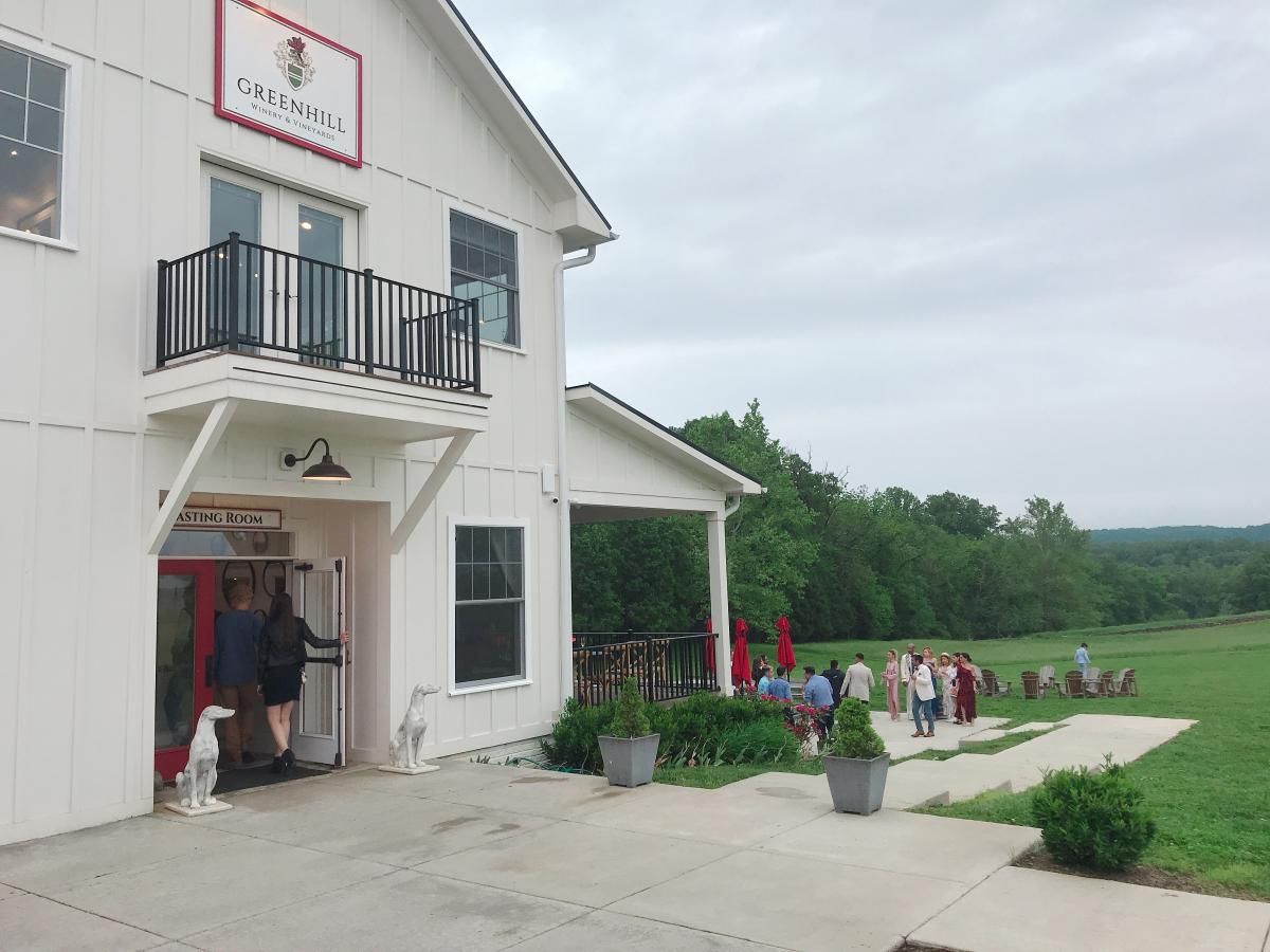 Overcast day at Greenhill Winery & Vineyard