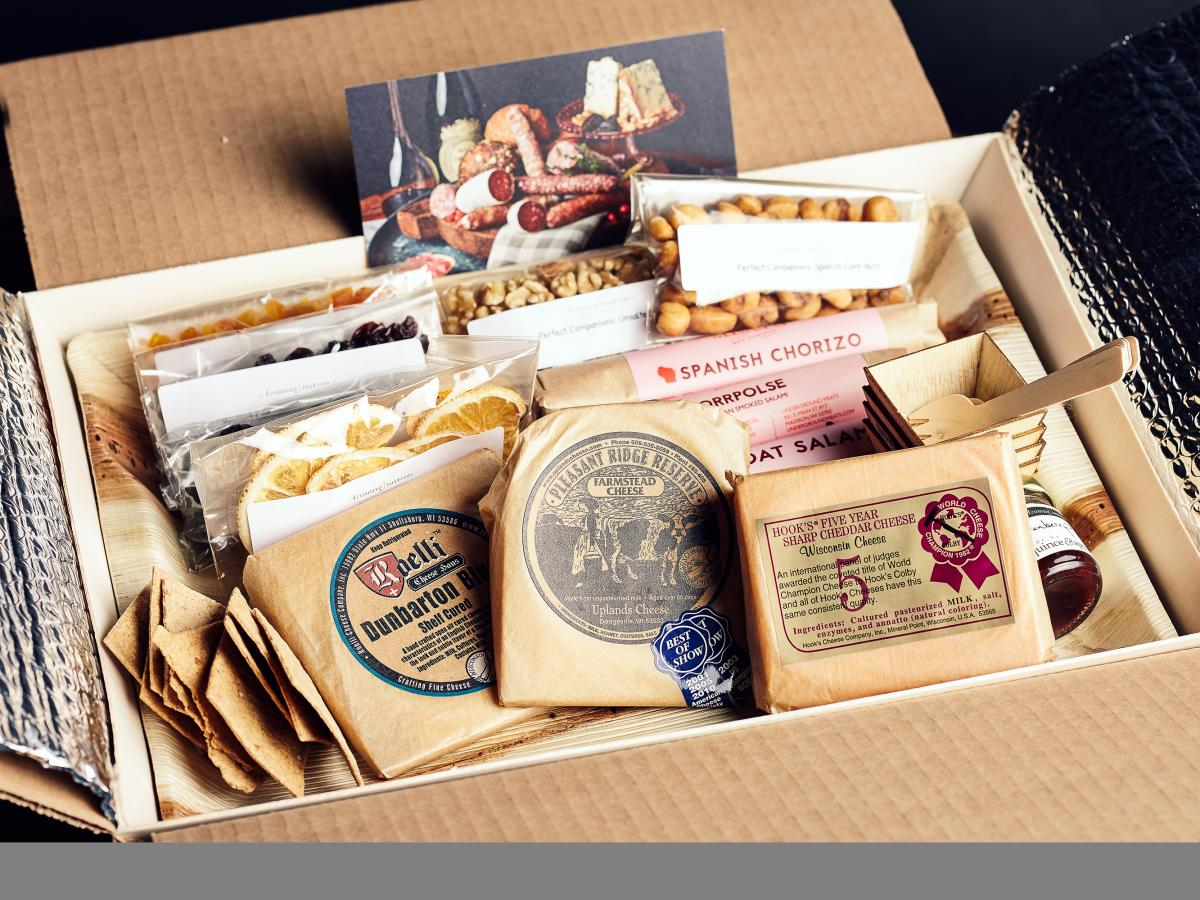 A box full of cheese from Fromagination