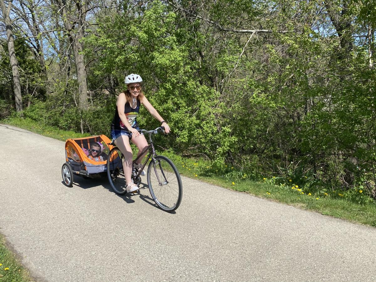 You can pull your child all over Madison by bike thanks to the city's many paths