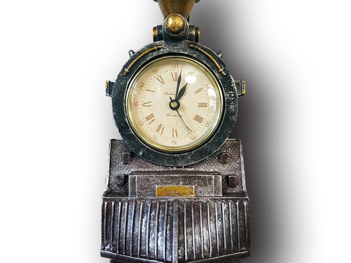 A locomotive wall clock
