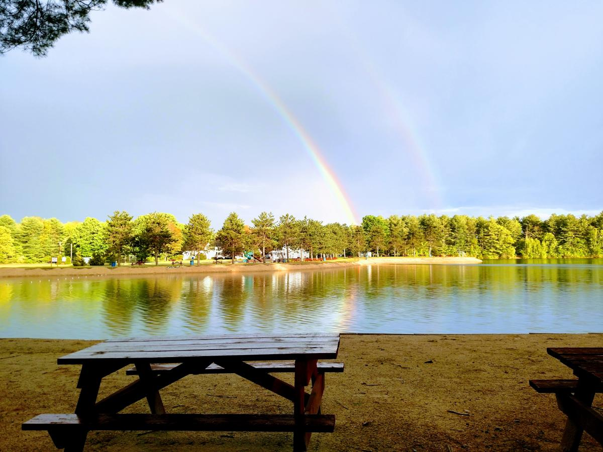 Rainbows at Wassamki Springs Campground