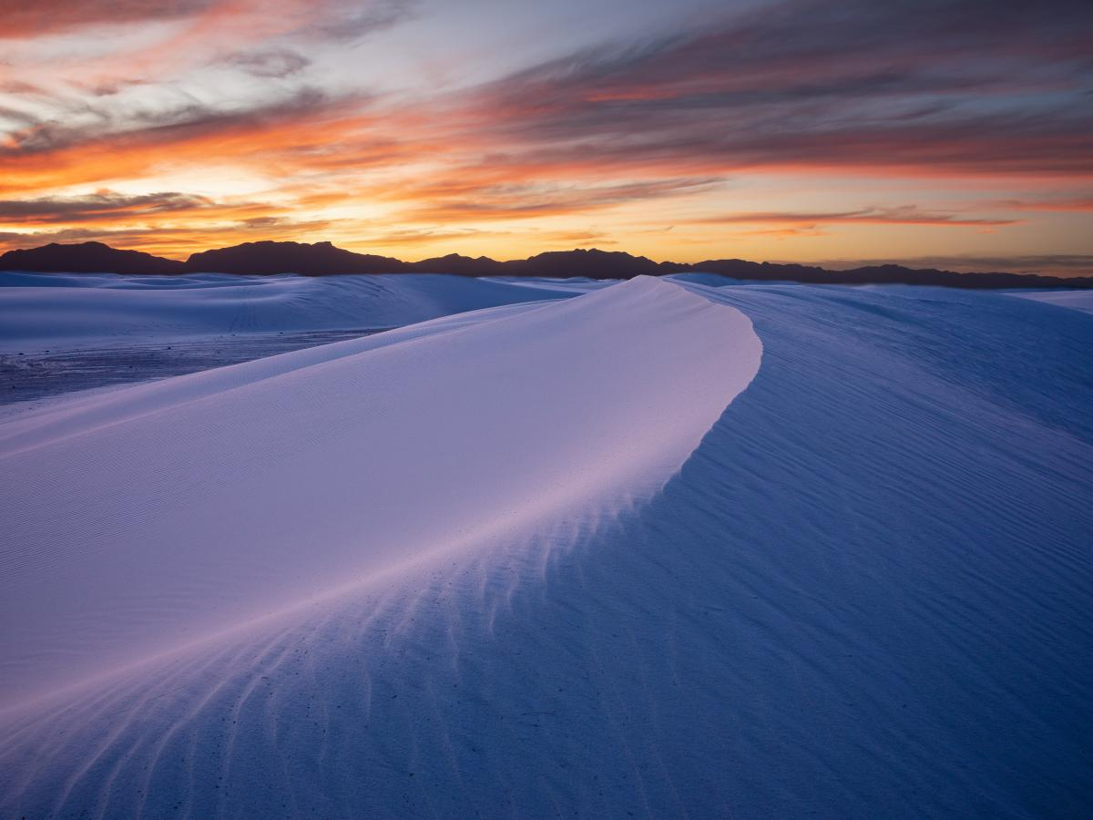 Blue Hour at White Sands, Photograph by David Turning, New Mexico Magazine