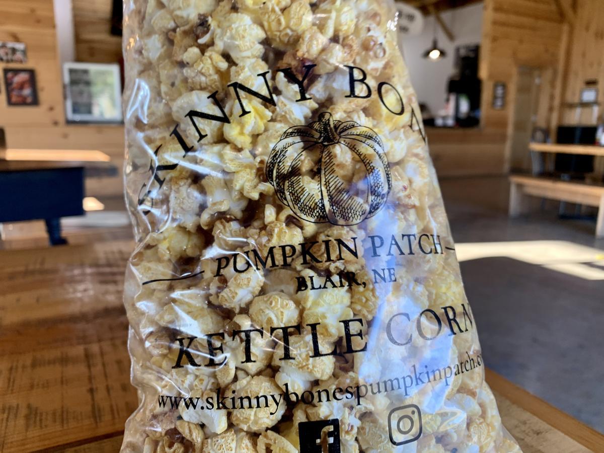Kettle corn from Skinny Bones Pumpkin Patch