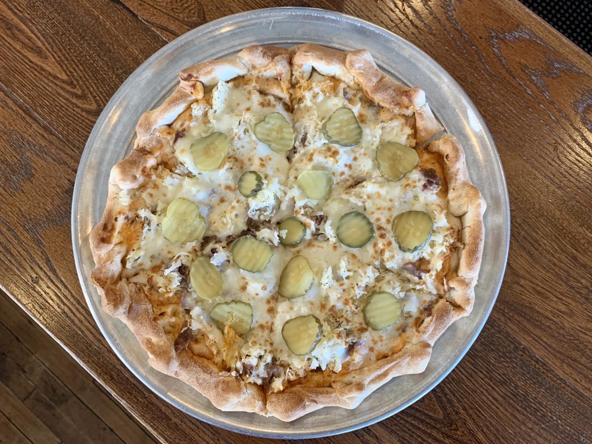 Reuben Pizza at Vis Major Brewing