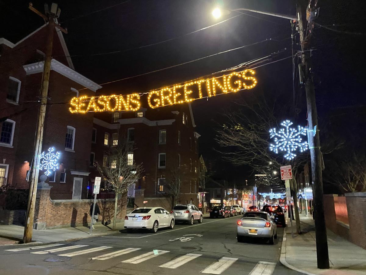 """Seasons Greetings"" on Thayer Street"