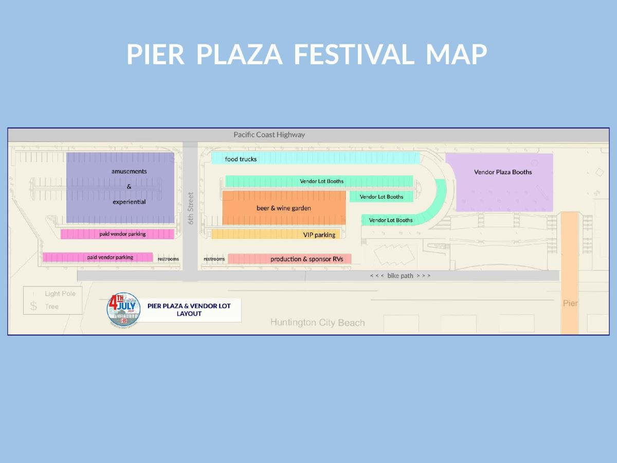 Fourth of July Pier Plaza Festival Map in Huntington Beach