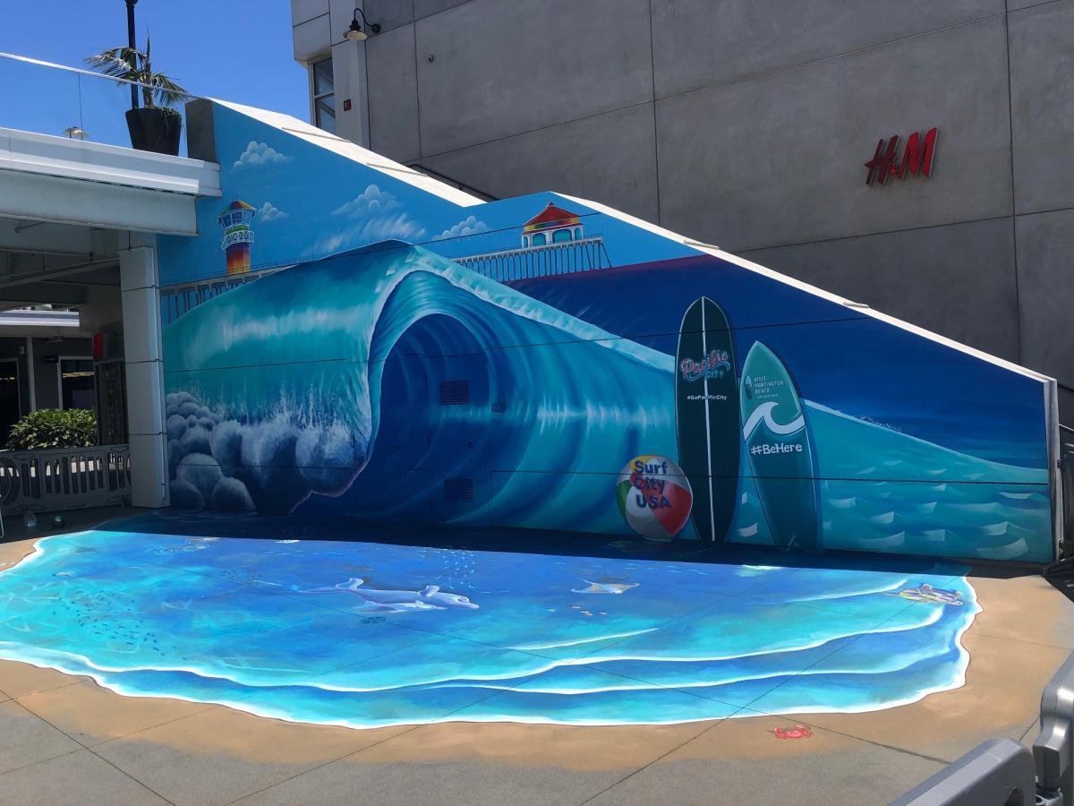 Pacific City Mural in Huntington Beach
