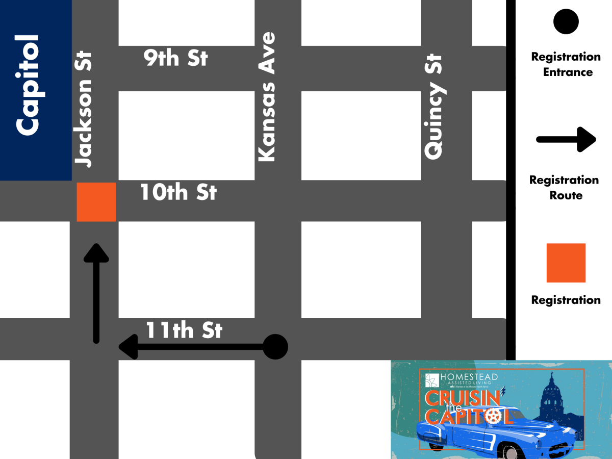Cruisin Staging Map 2021 | Topeka, KS