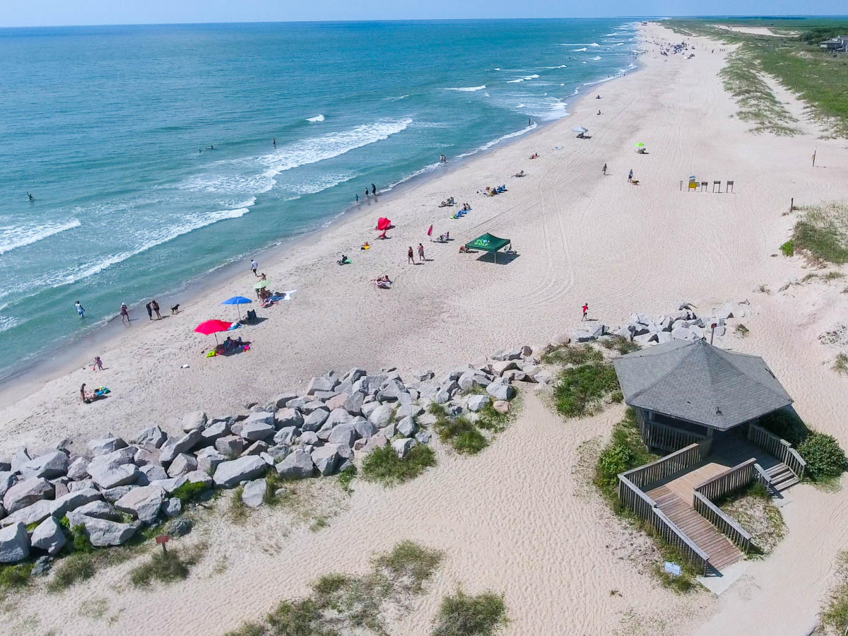 Aerial view of Fort Fisher State Rec Area
