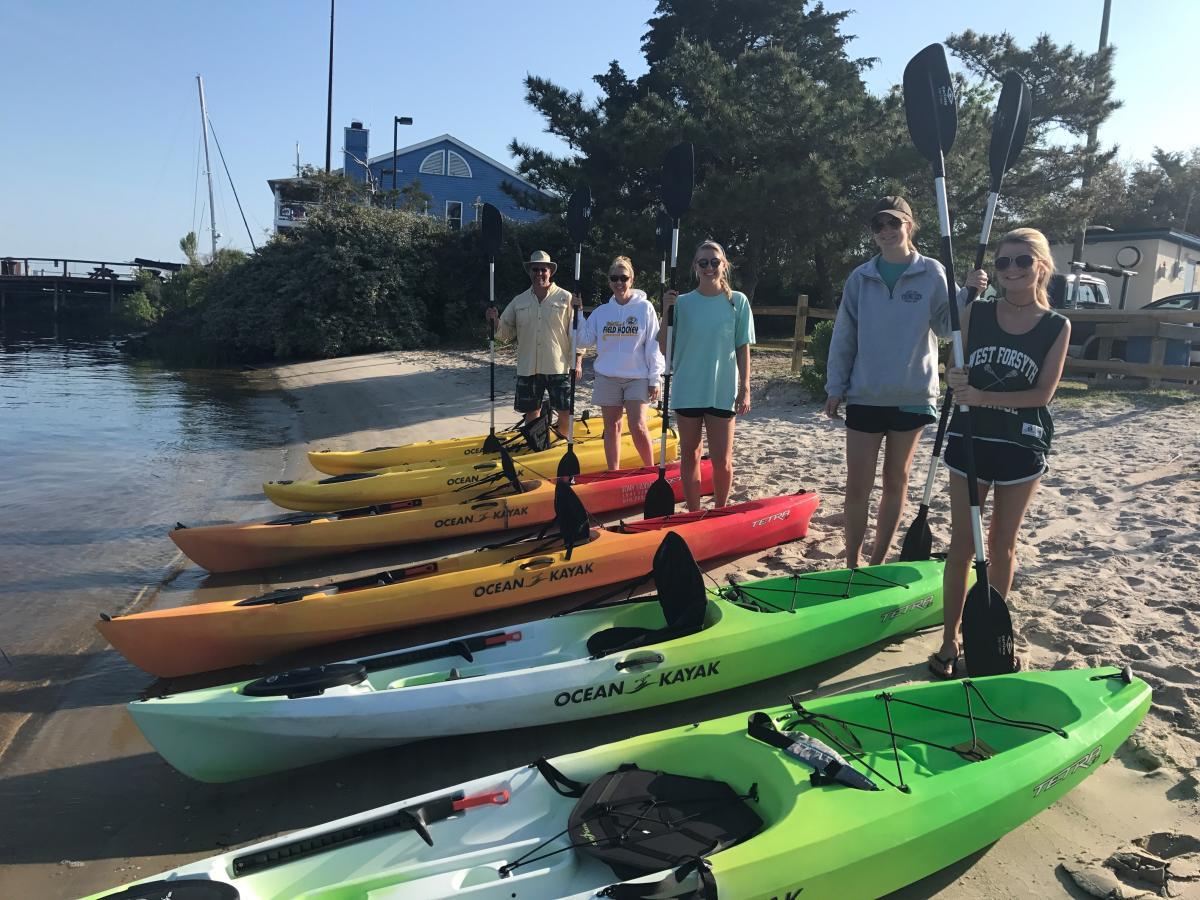 Tony Silvagni Kayak Rentals in Carolina Beach