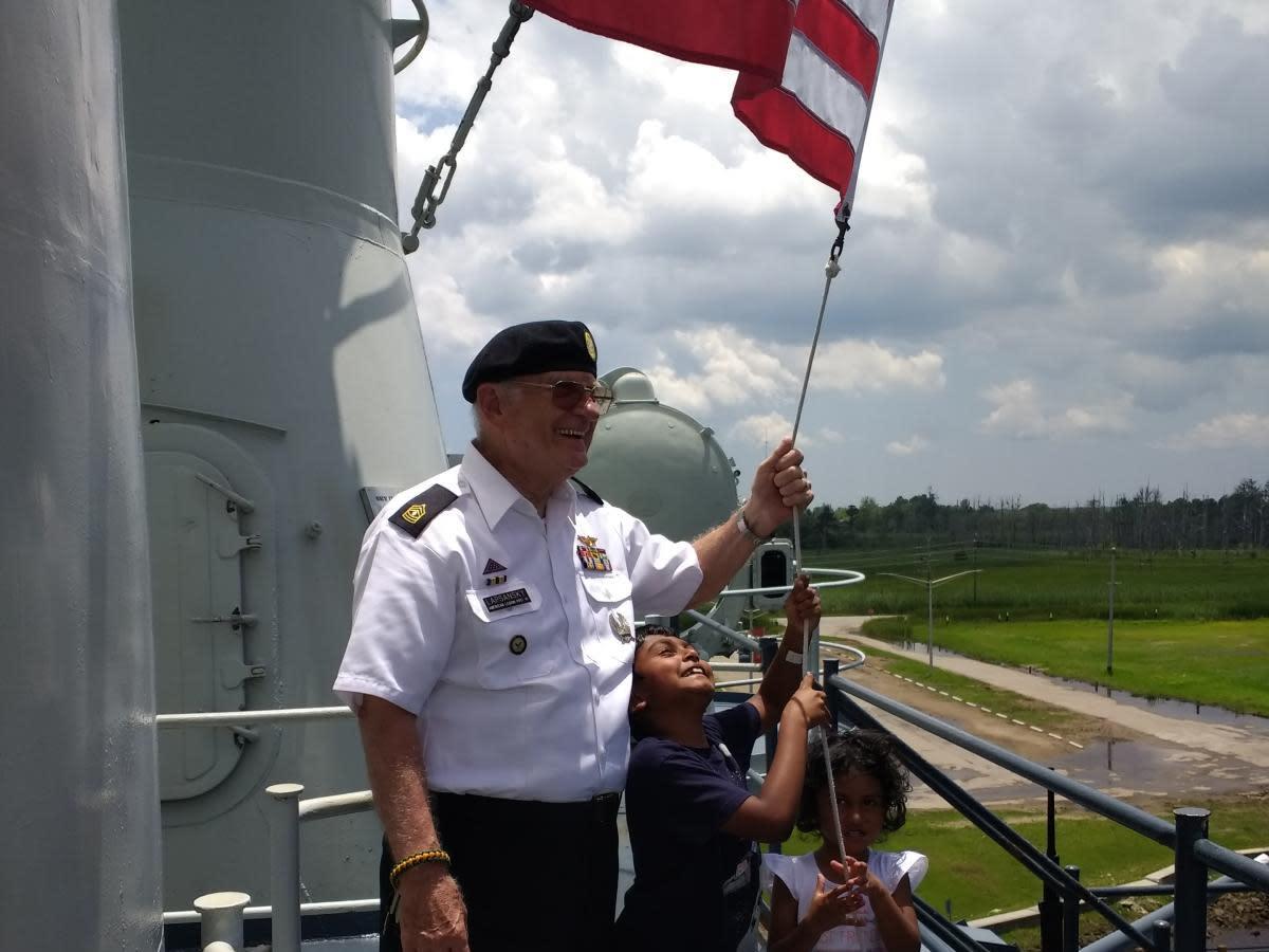 Raise the Flag Event Battleship NORTH CAROLINA