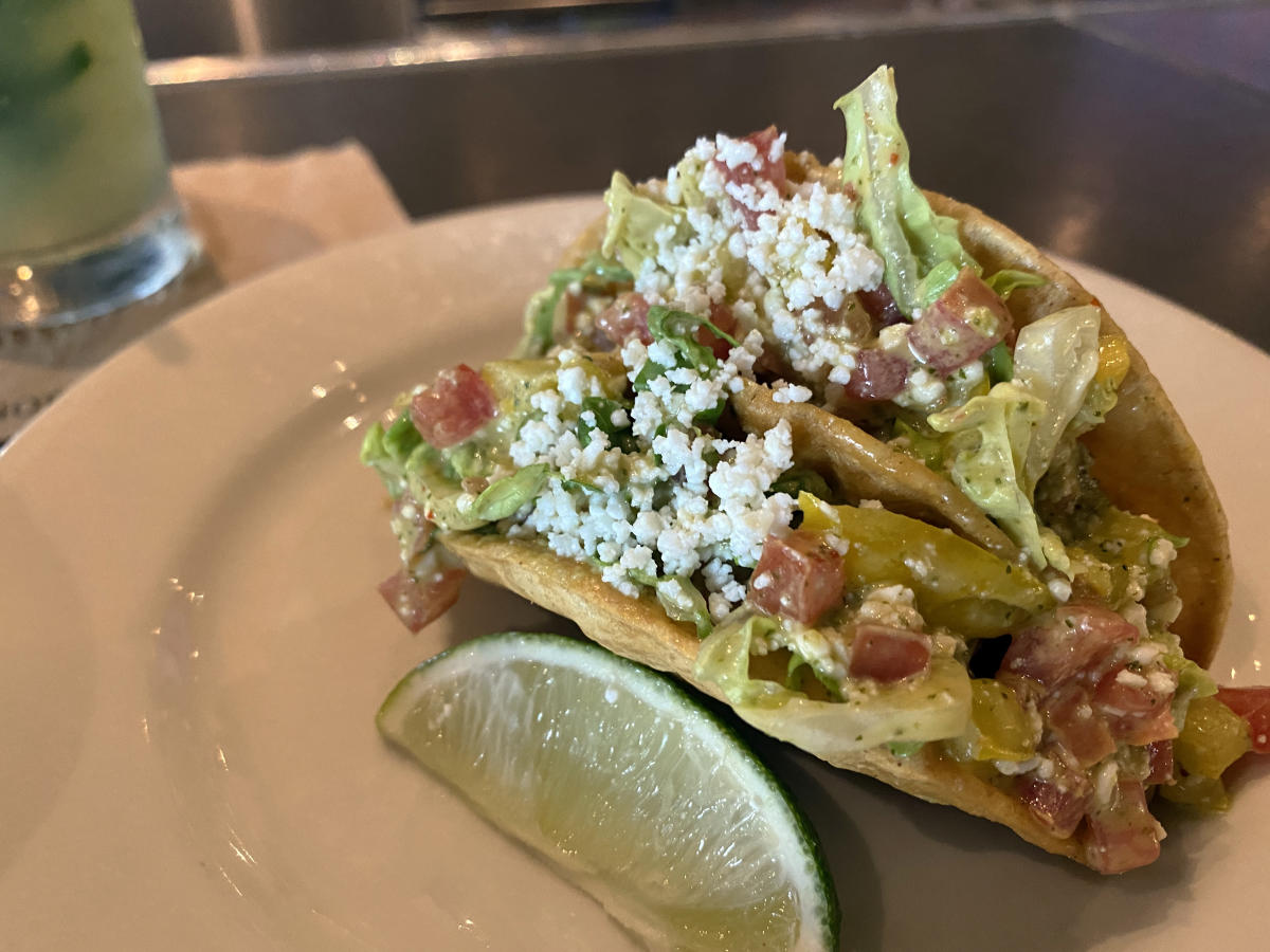 Cilantro Lime Chicken Tacos at Bazille