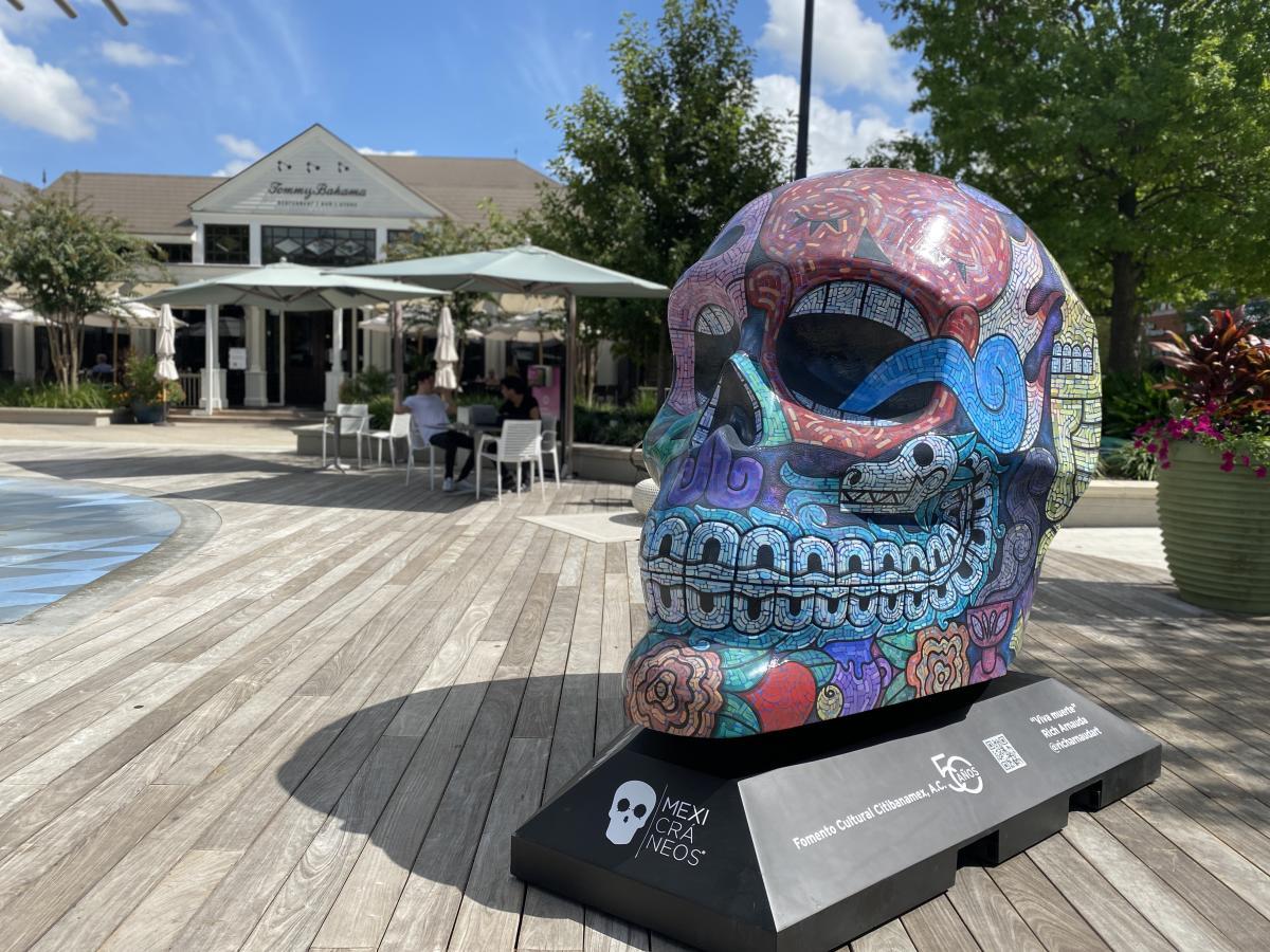 Mexicráneos Exhibit at Market Street's Central Park