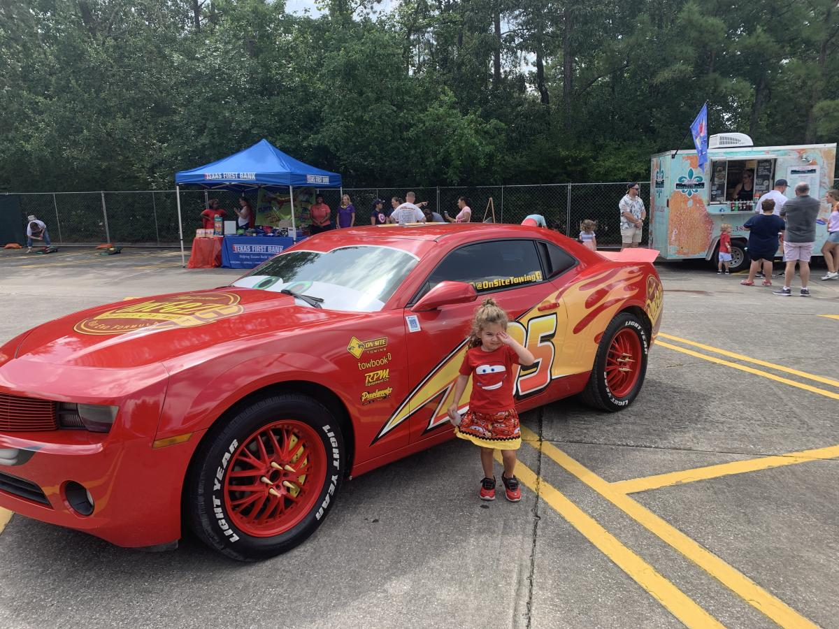 Lightning McQueen at The Woodlands Children's Museum