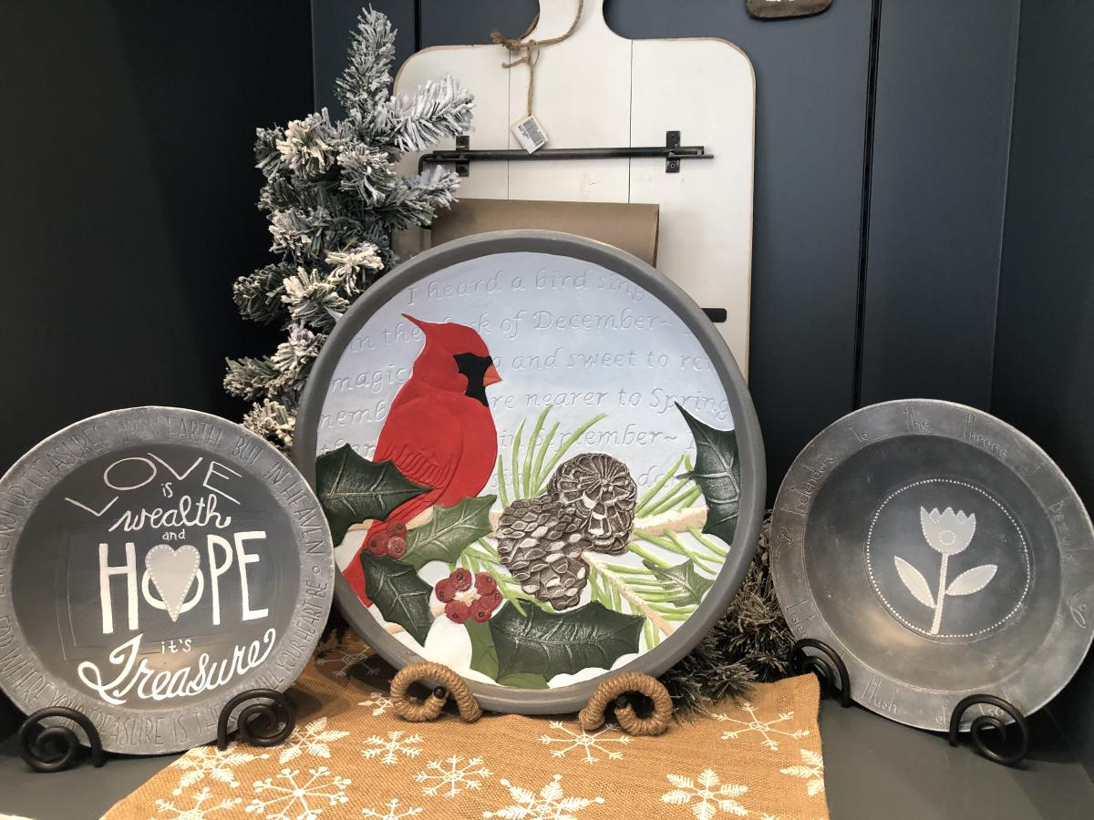 Brookwood Holiday Store - Cardinal Plate