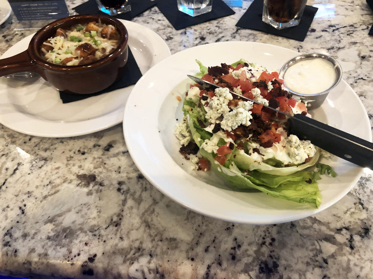 Wedge Salad and French Onion Soup at The Republic Grille