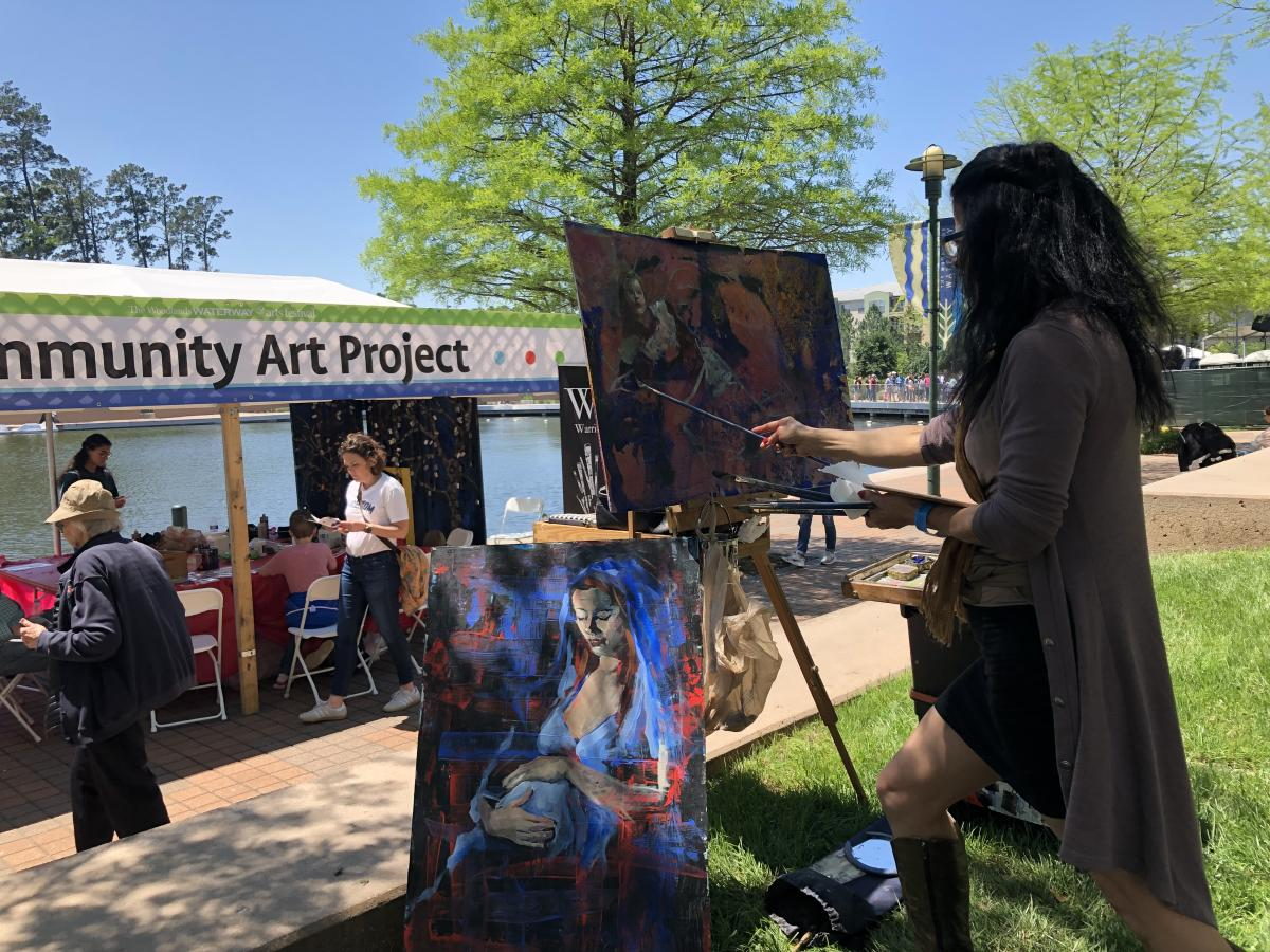 Artist at The Woodlands Waterway Arts Festival