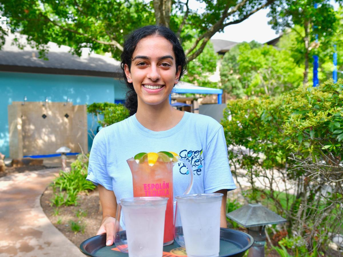 Poolside Cocktails at The Woodlands Resort