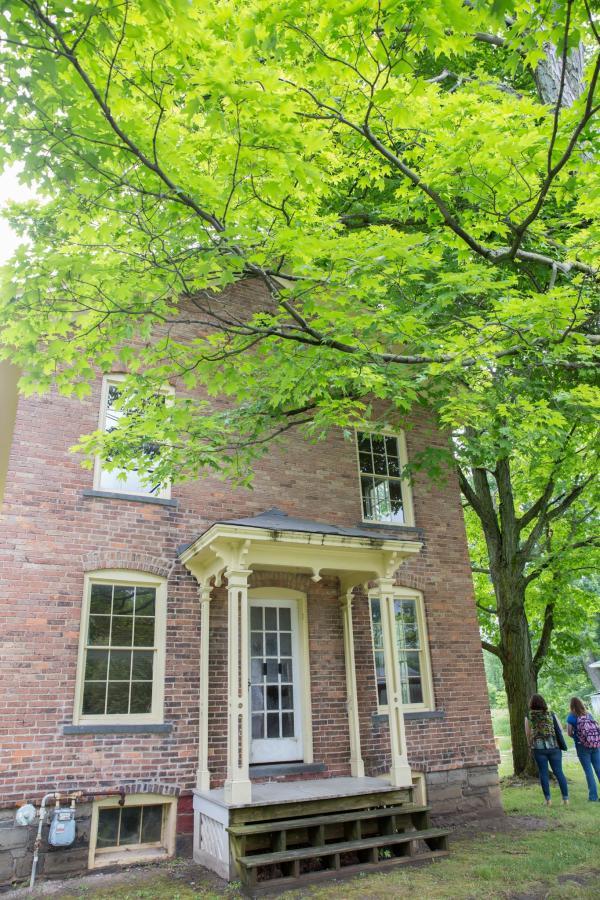 Harriet Tubman Home - the brick building built by Harriet herself!