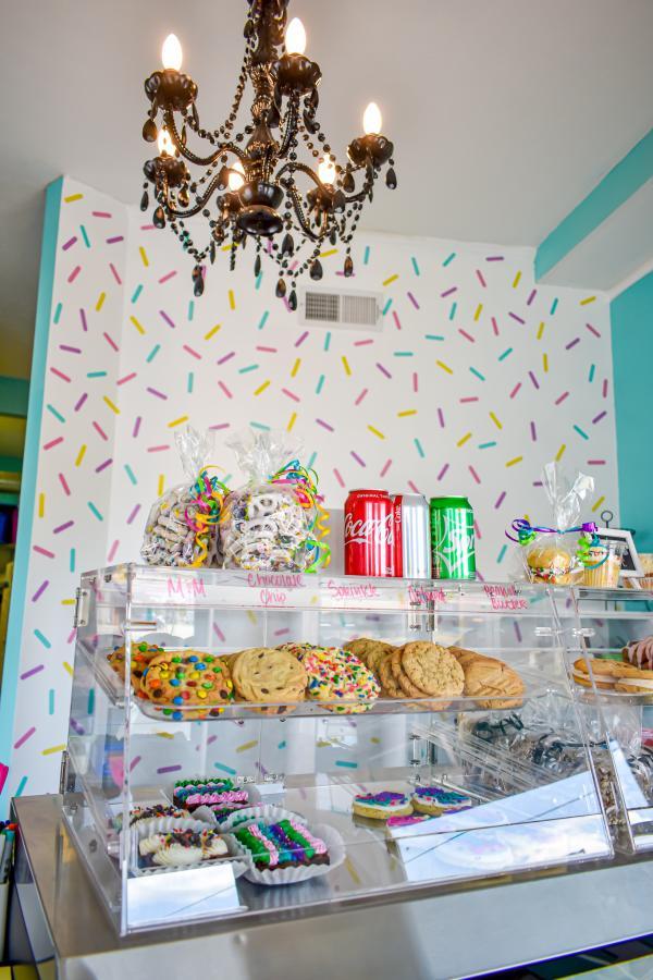 Display of cookies and sweet treats at Sweets By Morgan