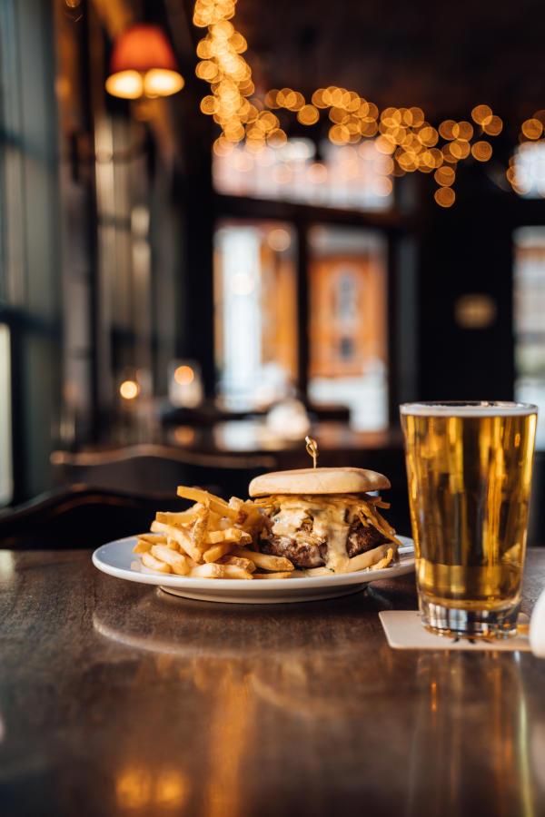 Midtown Oyster Bar  Nacho Burger