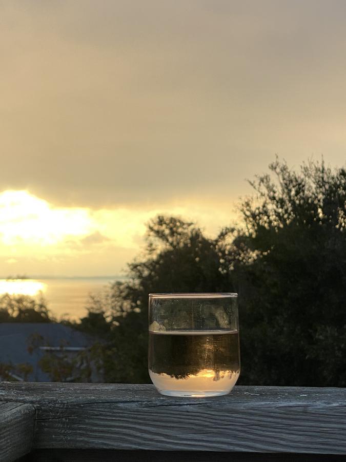 sunset wine water dining