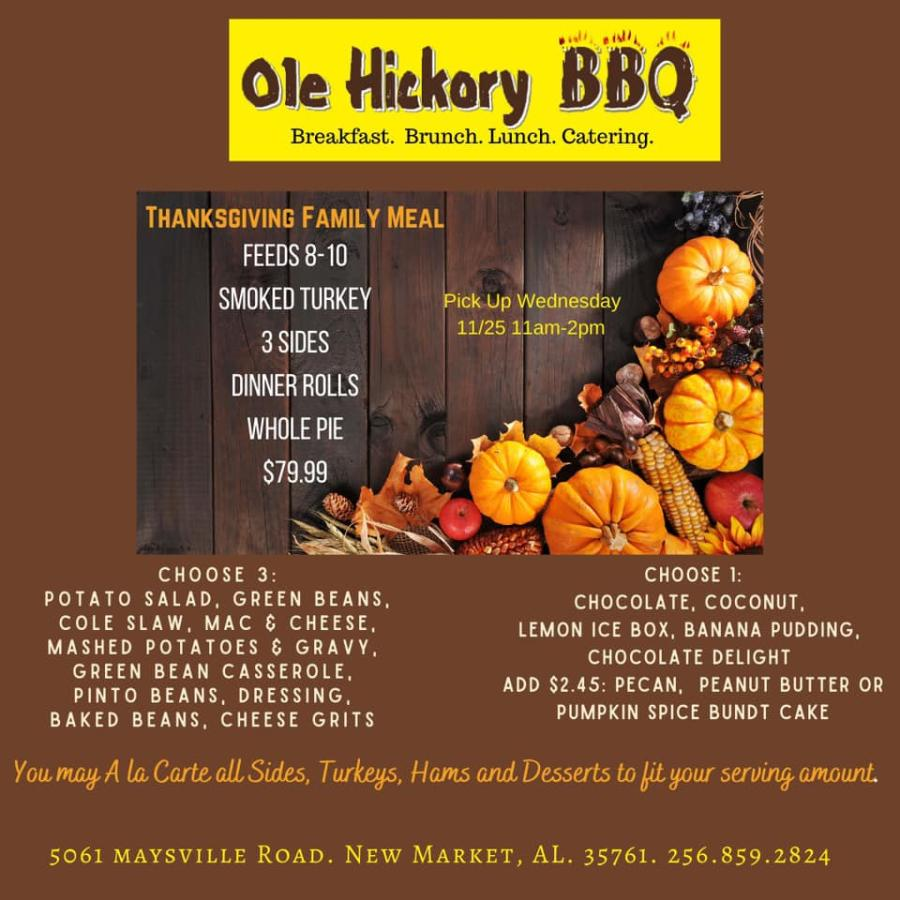 Ole Hickory BBQ Thanksgiving