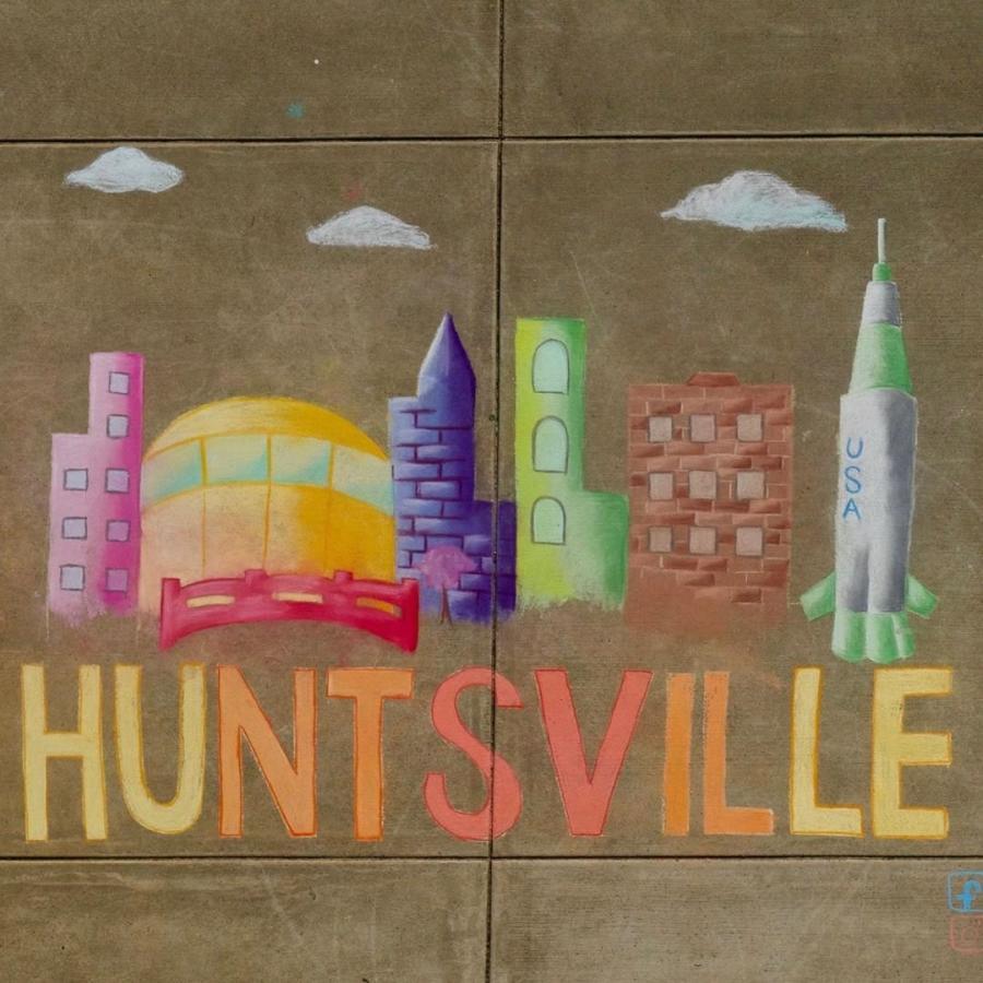Chalk Drawing of Huntsville