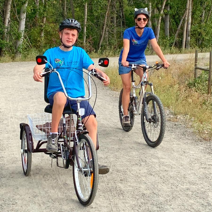 Lisa Kadane - biking