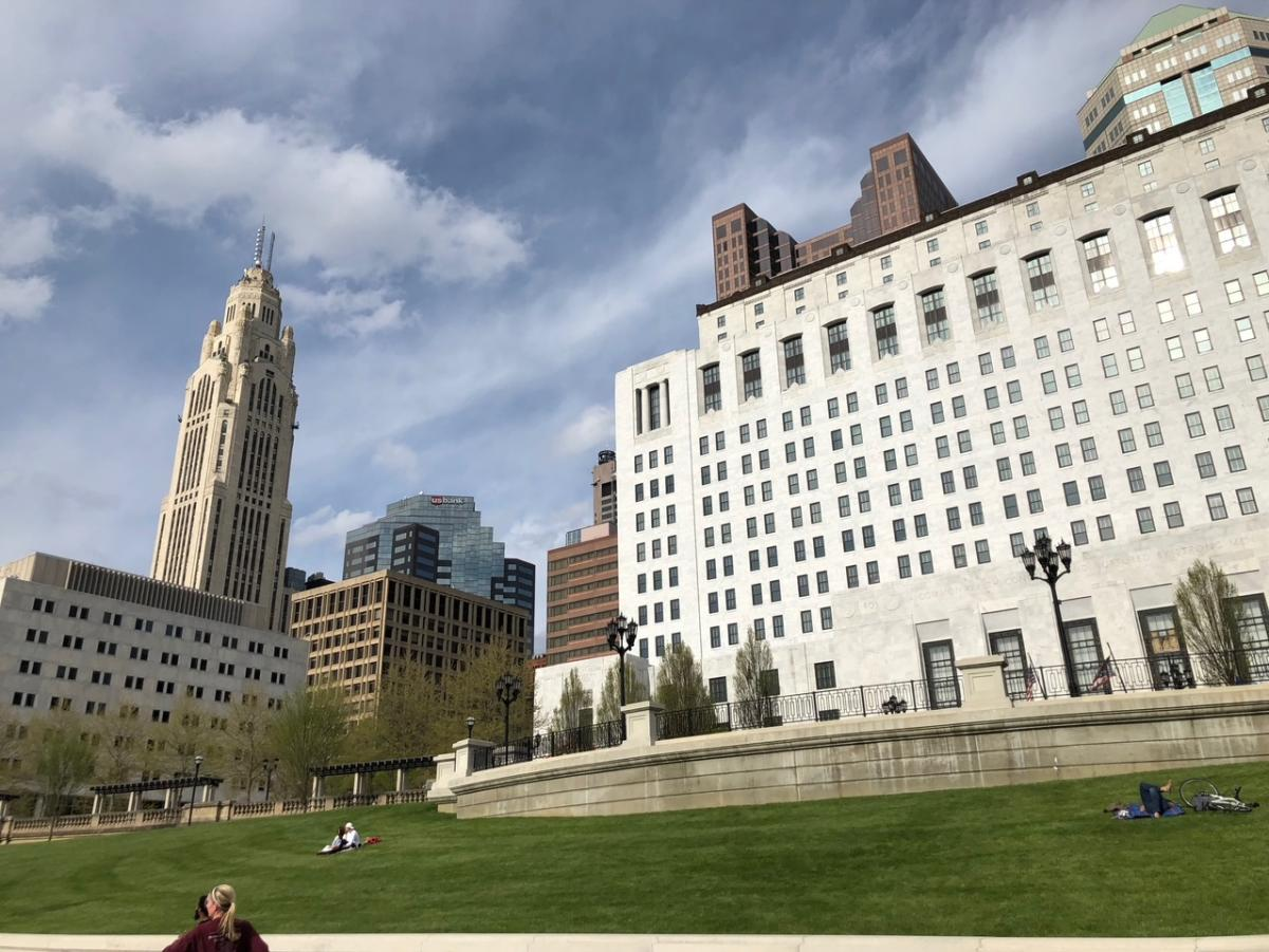 A view of downtown Columbus and LeVeque Tower