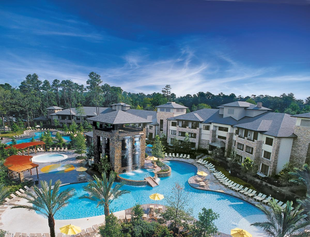 The Woodlands Resort Pool Aerial
